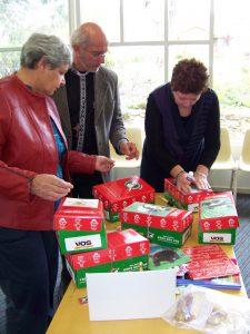 Operation Christmas Child - shoebox packing